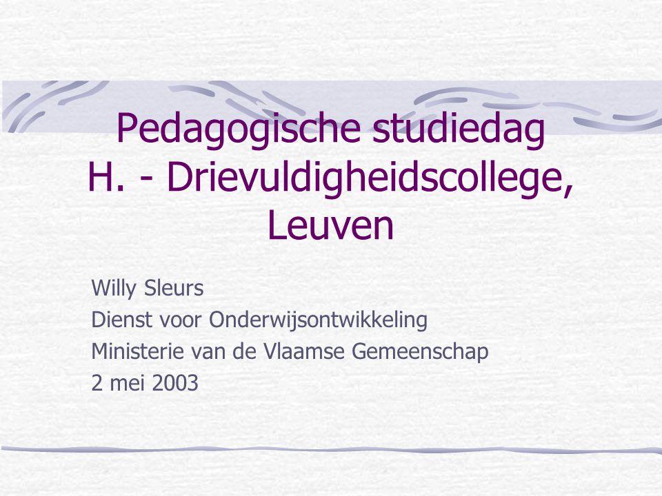 Pedagogische studiedag H.