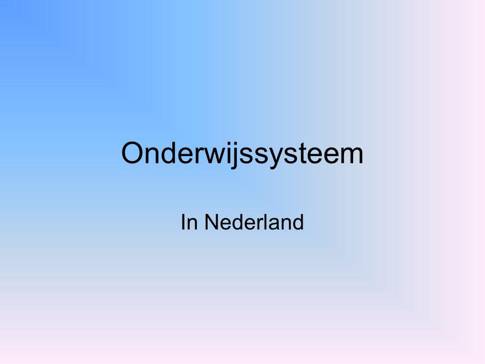 Onderwijssysteem In Nederland