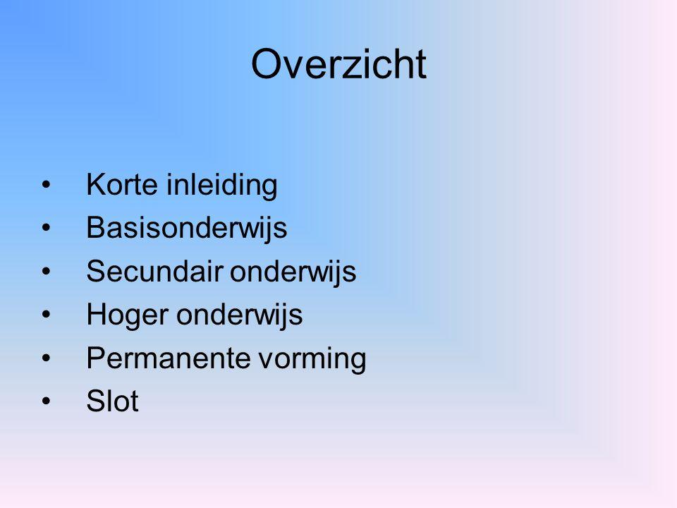 Inrichtende machten Vlaamse Gemeenschap Provincies Steden Gemeenten Individuen Vrij verenigingen Private instanties