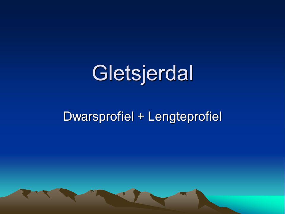 Gletsjerdal Dwarsprofiel + Lengteprofiel
