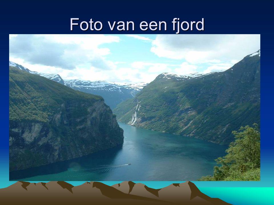 Foto van een fjord