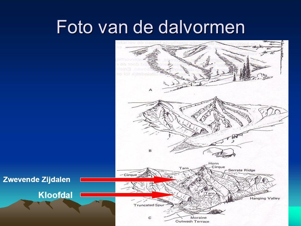 Foto van de dalvormen Kloofdal Zwevende Zijdalen