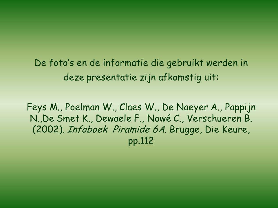 Feys M., Poelman W., Claes W., De Naeyer A., Pappijn N.,De Smet K., Dewaele F., Nowé C., Verschueren B.