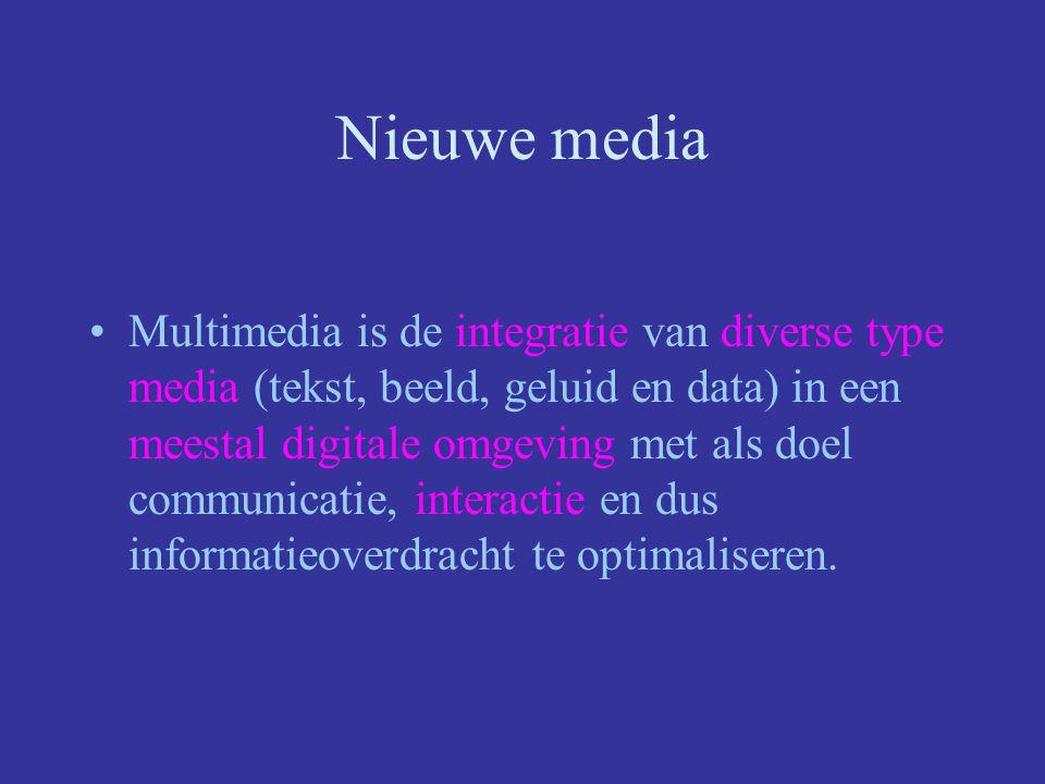 interactie Gebruiker is actief –cd-rom –video-on-demand –internet gebruiker is niet actief –televisie –radio GEVOLG: demassificatie