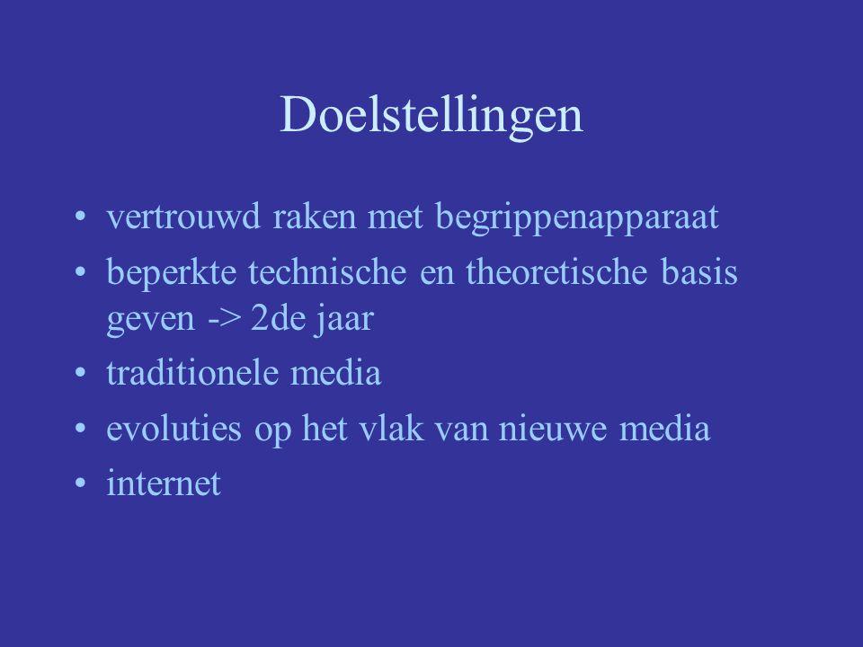 Multimedia 1ste jaar Iris Robijns Walter Van den Branden Ilse Van Looveren