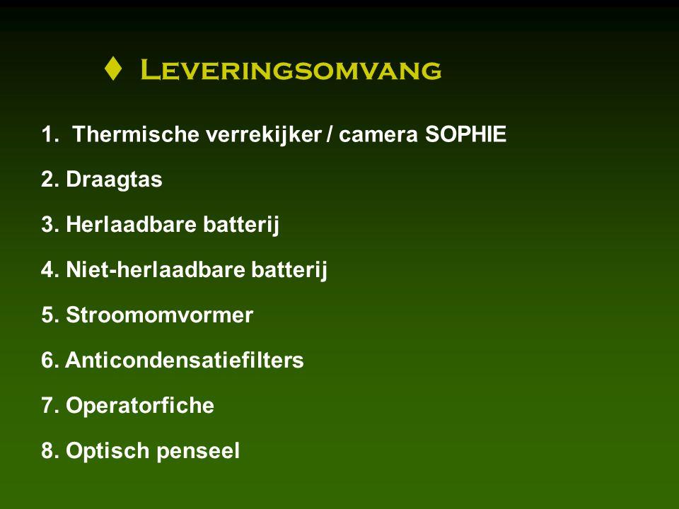 Leveringsomvang 1. Thermische verrekijker / camera SOPHIE 2.