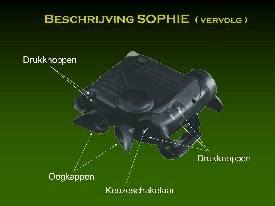 Oogkappen Drukknoppen Keuzeschakelaar Drukknoppen Beschrijving SOPHIE ( vervolg )