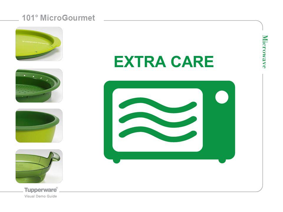2 101° MicroGourmet Ken uw microgolfoven Max 800 Watt Max 30 minuten Min 400 ml water 5 cm van de energiebron (boven of zijkant) van de microgolfoven houden Communicatie