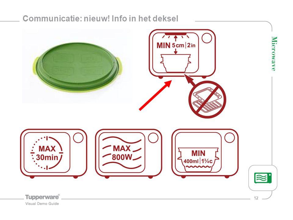 12 Communicatie: nieuw! Info in het deksel