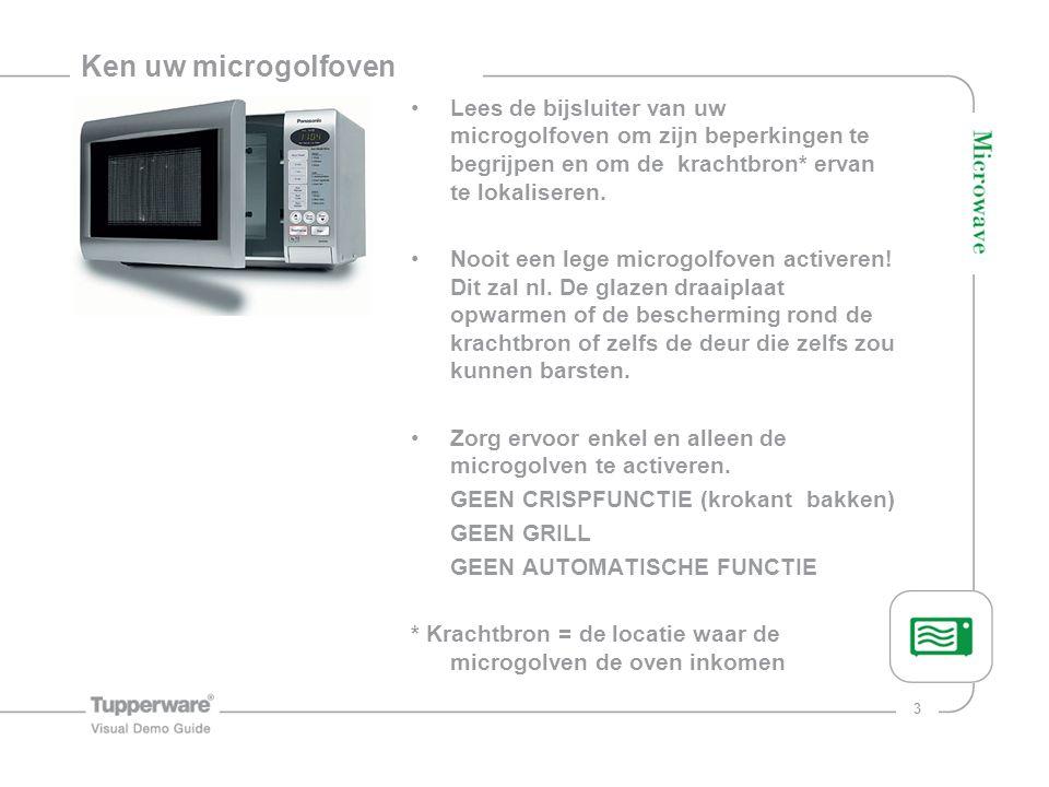4 Max 800 Watt Plaats de MicroGourmet in de microgolf op maximum 800 Watt.