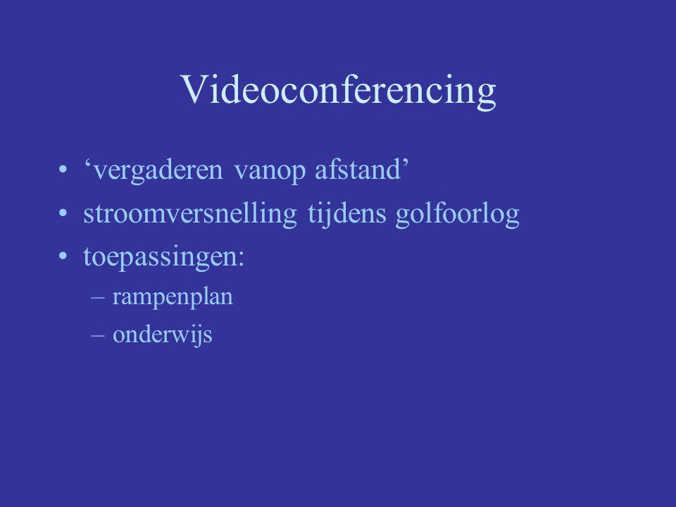 Videoconferencing 'vergaderen vanop afstand' stroomversnelling tijdens golfoorlog toepassingen: –rampenplan –onderwijs