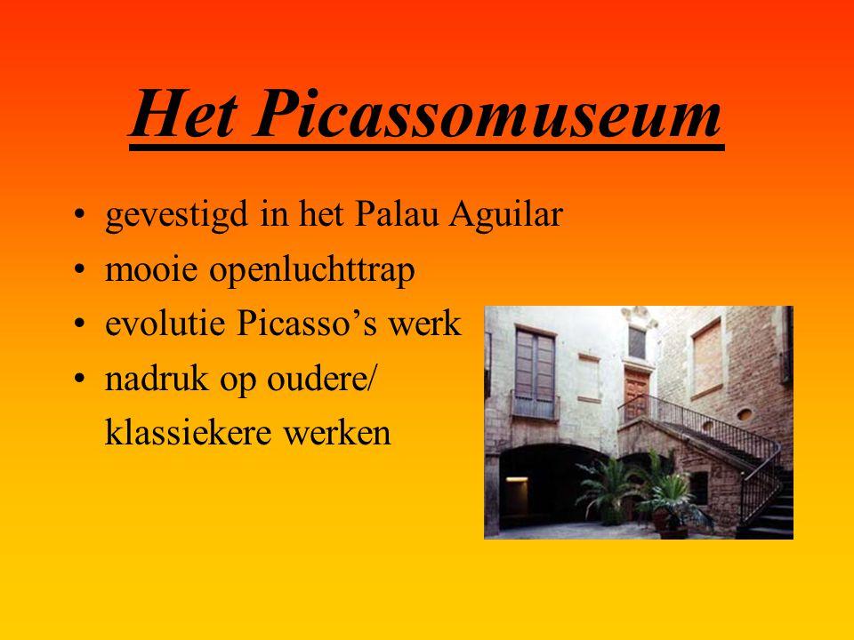 Het Picassomuseum gevestigd in het Palau Aguilar mooie openluchttrap evolutie Picasso's werk nadruk op oudere/ klassiekere werken
