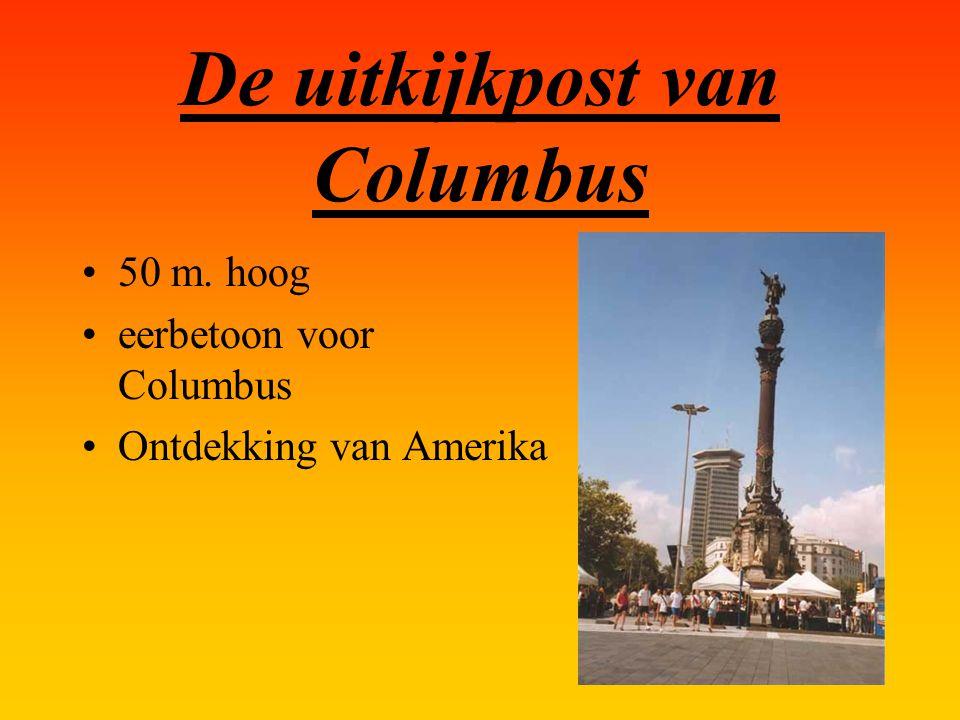 De uitkijkpost van Columbus 50 m. hoog eerbetoon voor Columbus Ontdekking van Amerika