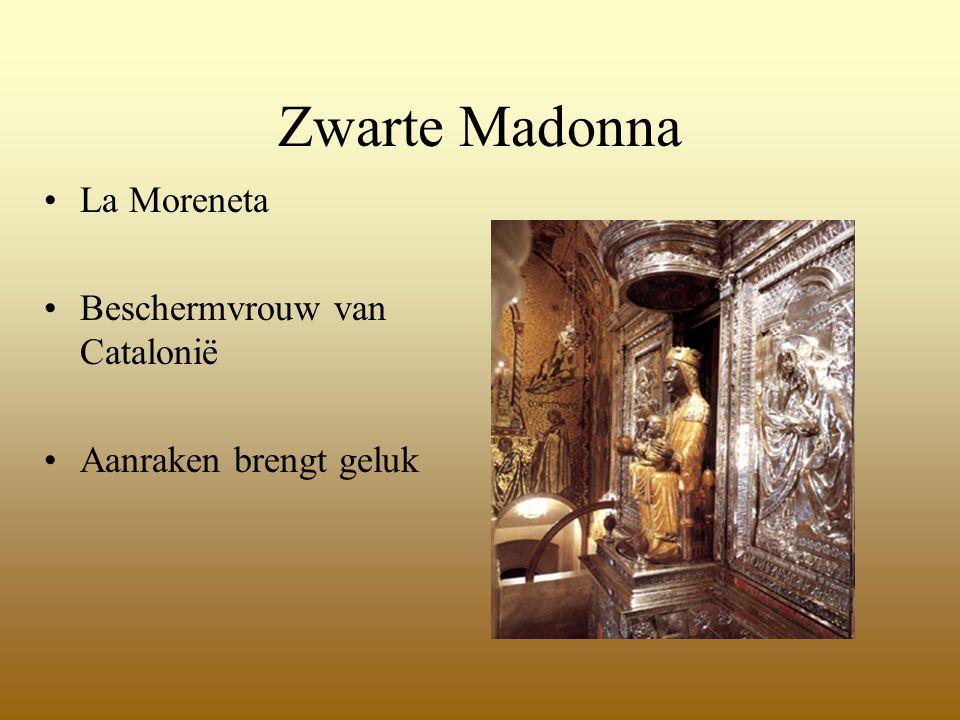Zwarte Madonna La Moreneta Beschermvrouw van Catalonië Aanraken brengt geluk