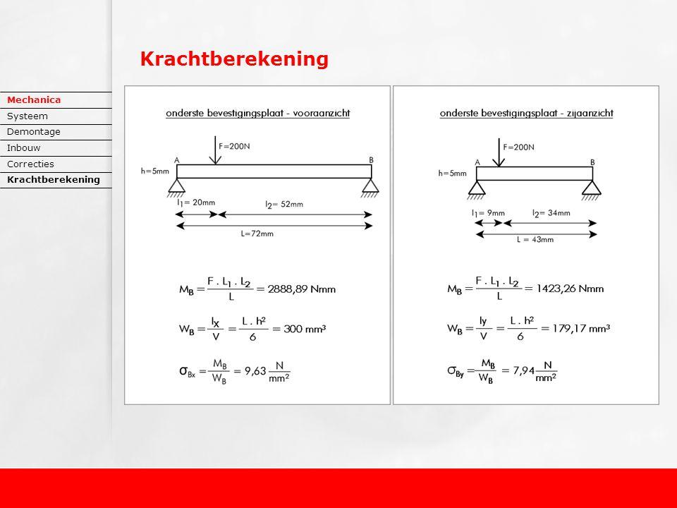 Mechanica Systeem Demontage Inbouw Correcties Krachtberekening