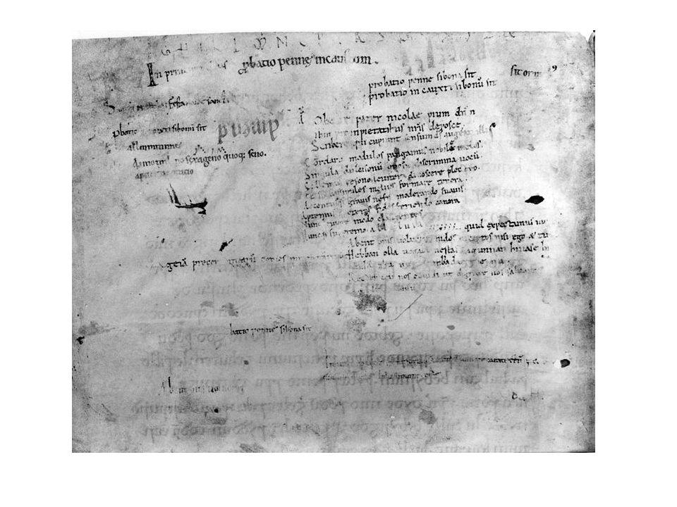 Hebban olla uogala nestas hagunnan hinase hi(c) (a)nda thu uuat unbidan uue nu Oudste bekende pennenproef (Probatio pennae) Ongeveer 1100 Oudnederlands Wat staat er?