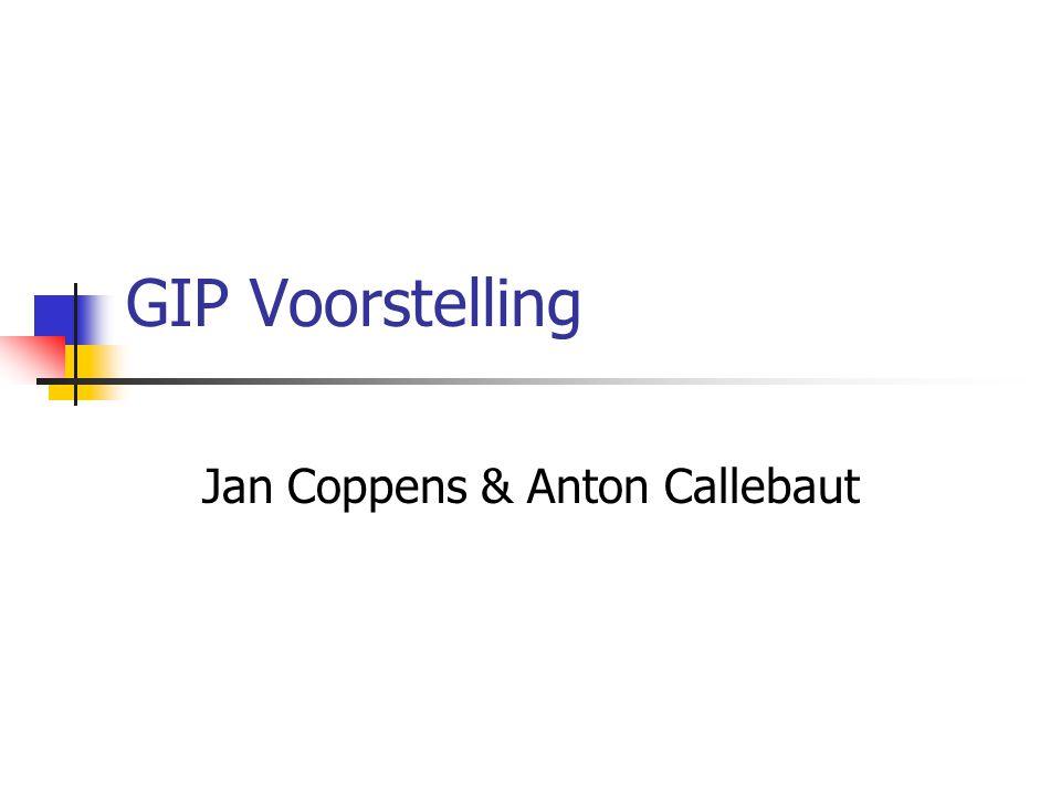 GIP Voorstelling Jan Coppens & Anton Callebaut