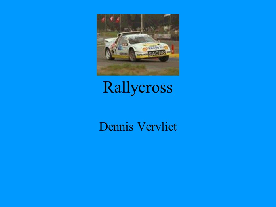 Rallycross Dennis Vervliet