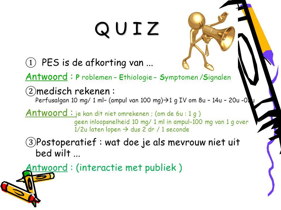 Q U I Z ① PES is de afkorting van...