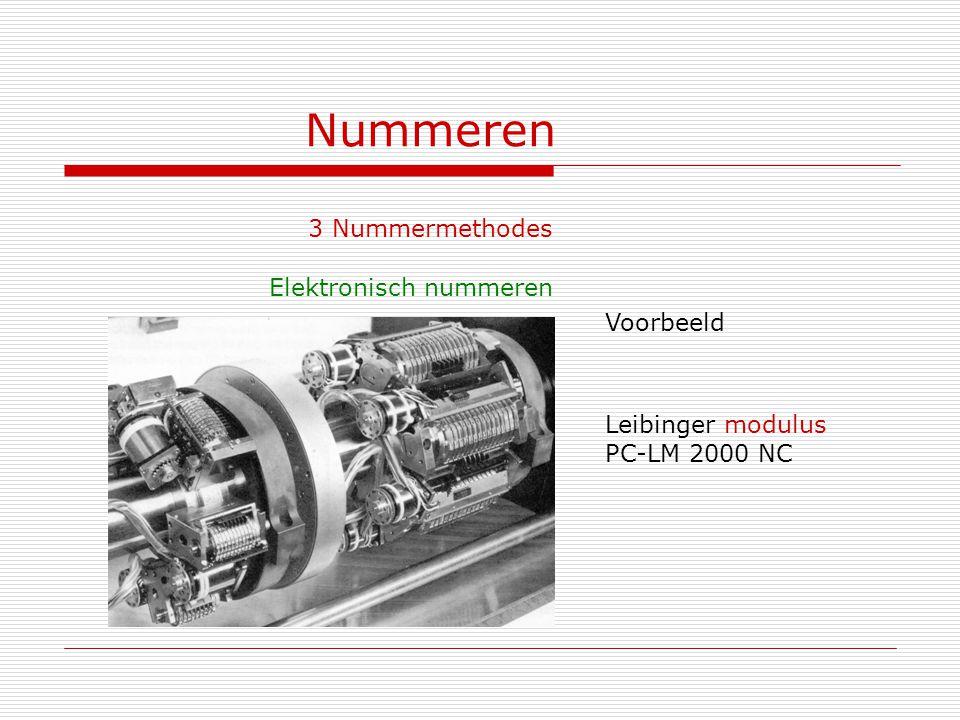 Nummeren 3 Nummermethodes Elektronisch nummeren Voorbeeld Leibinger modulus PC-LM 2000 NC