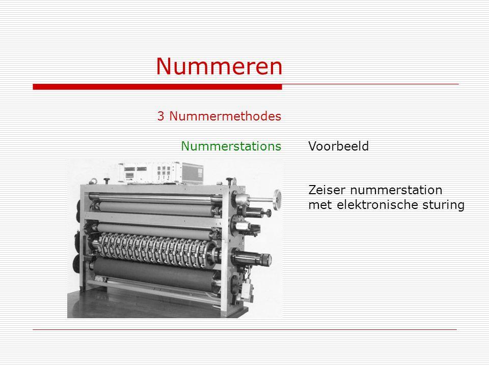 Nummeren 3 Nummermethodes Nummerstations Voorbeeld Zeiser nummerstation met elektronische sturing