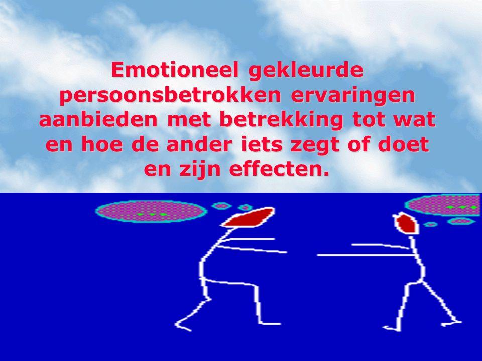 In gesprek nagaan of je eerder een reactie bij de ander teweegbrengt via aangesproken gevoelens, inzicht, begrip, voorstelling, herinnering, motivatie