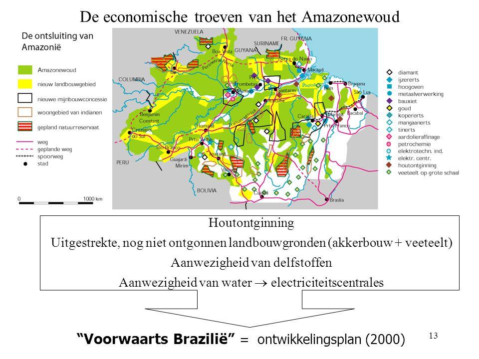 12 Facetkaart bevolkingsdichtheid - ontwikkelingsgraad Zuidoosten ° dichtbevolkt ° grote steden ° industriegebieden ° meest ontwikkeld Opmerking: ecol
