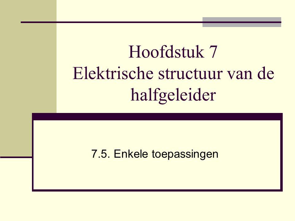 Hoofdstuk 7 Elektrische structuur van de halfgeleider 7.5. Enkele toepassingen