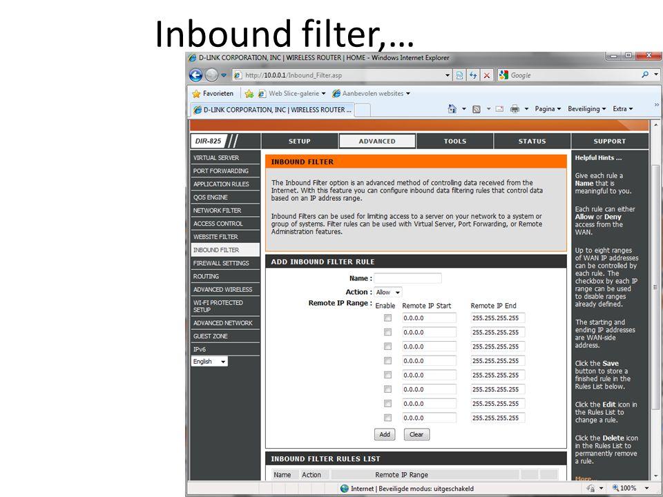 Inbound filter,…