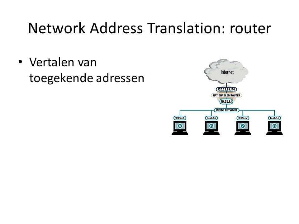 Firewall Filter en blokkeer: Inkomende en uitgaande verbindingen Bepaalde poorten Filteren op headers van packets (metadata van de packets - zie packet switching) Regels met Hiërarchie Logging