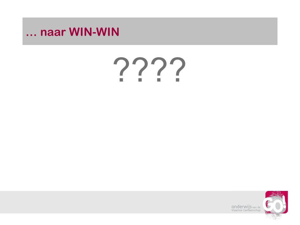 … naar WIN-WIN ????
