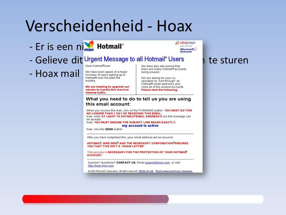 - Er is een nieuw virus !!! - Gelieve dit naar al je contactpersonen te sturen - Hoax mail