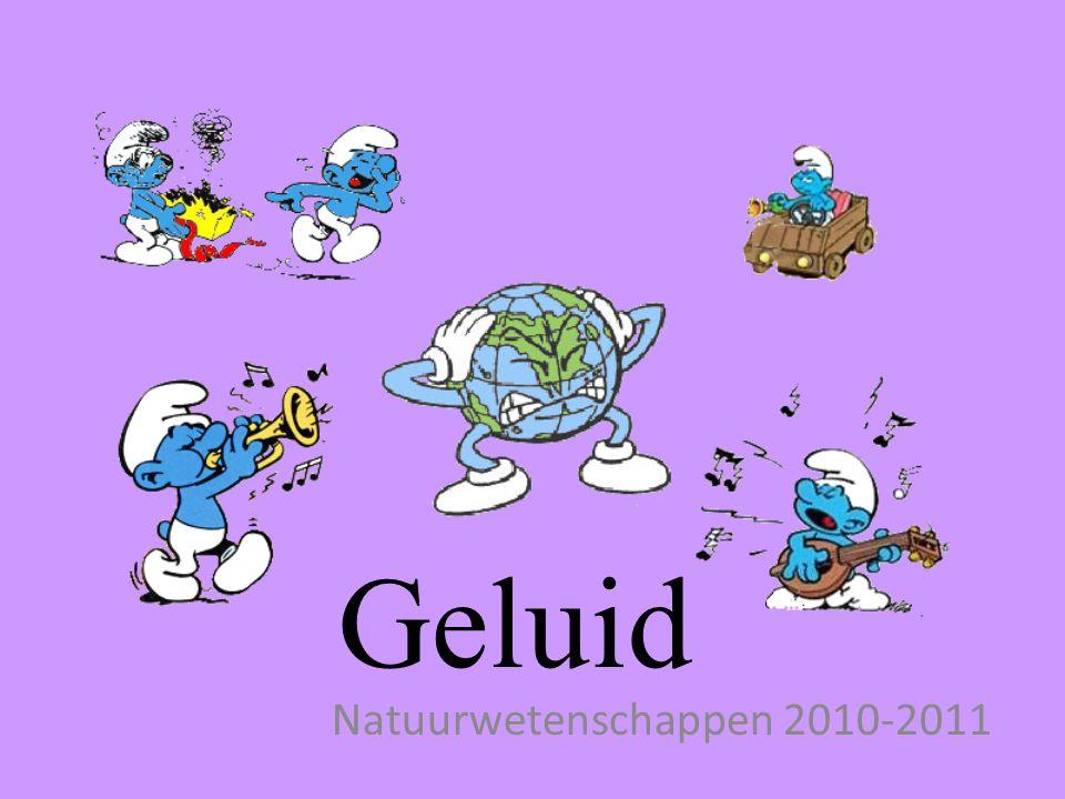 Geluid Natuurwetenschappen 2010-2011