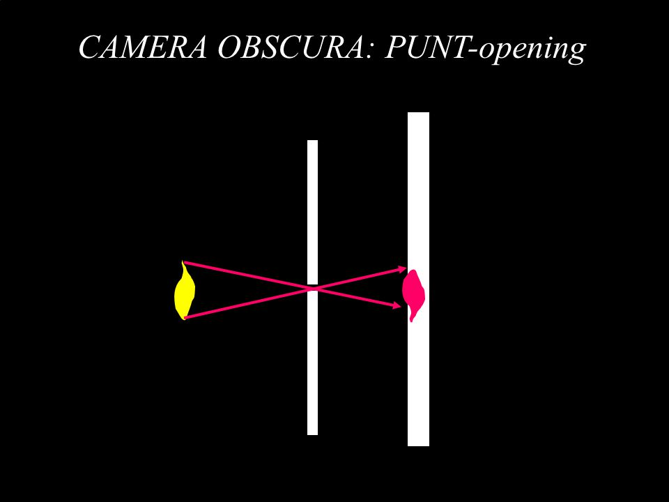 CAMERA OBSCURA: PUNT-opening