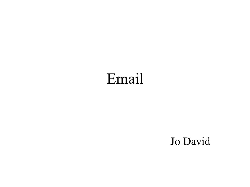 Email Jo David