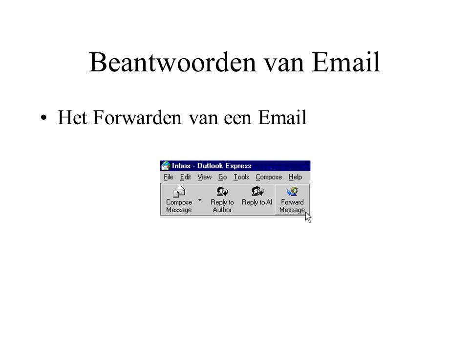Beantwoorden van Email Het Forwarden van een Email