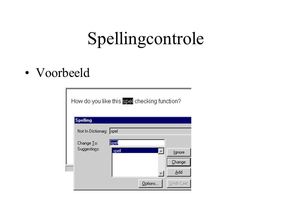Spellingcontrole Voorbeeld