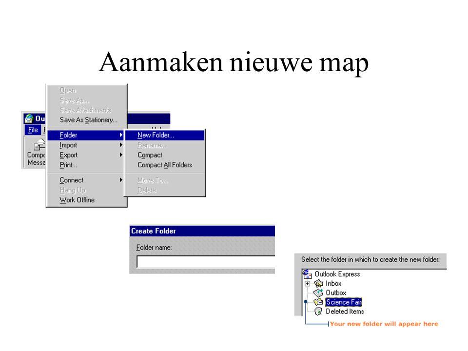 Aanmaken nieuwe map