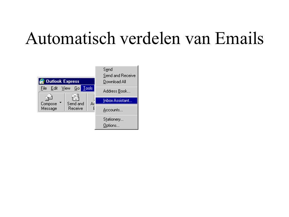 Automatisch verdelen van Emails