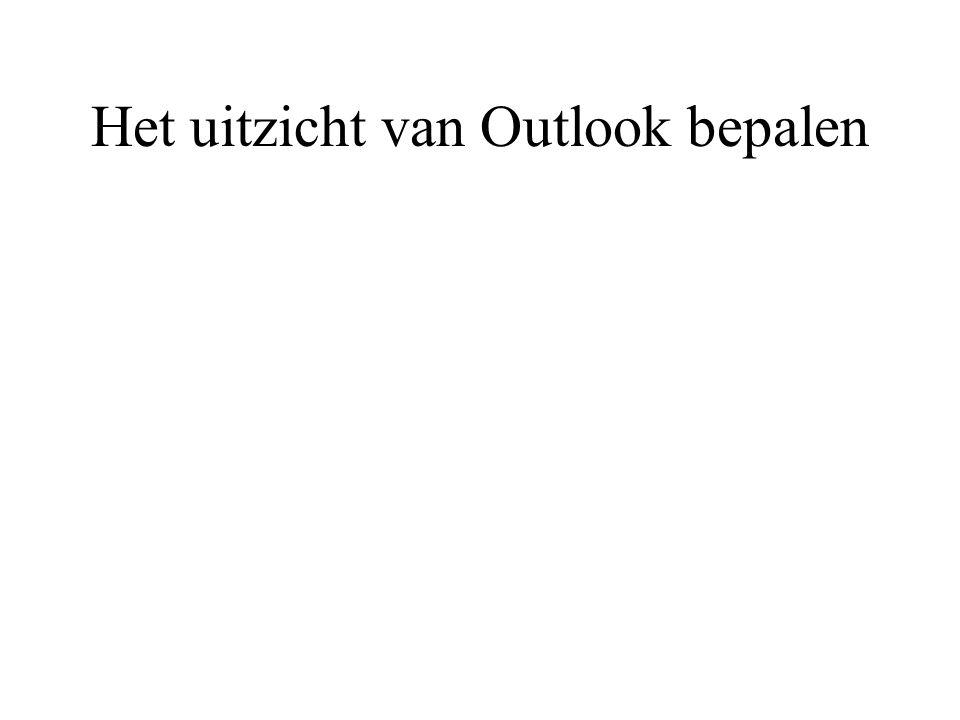 Het uitzicht van Outlook bepalen