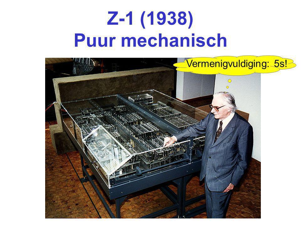 Z-1 (1938) Puur mechanisch Vermenigvuldiging: 5s!