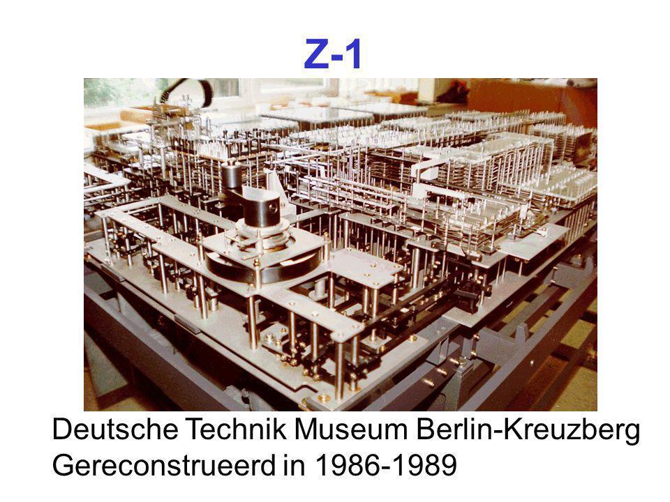 Z-1 Deutsche Technik Museum Berlin-Kreuzberg Gereconstrueerd in 1986-1989
