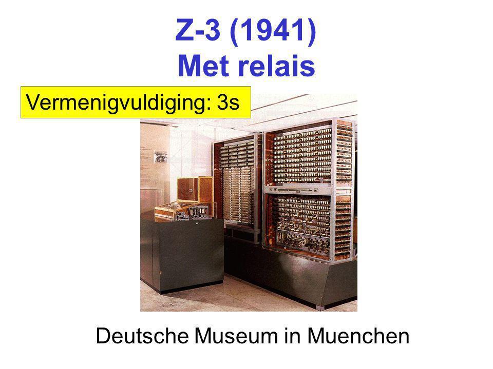 Z-3 (1941) Met relais Deutsche Museum in Muenchen Vermenigvuldiging: 3s