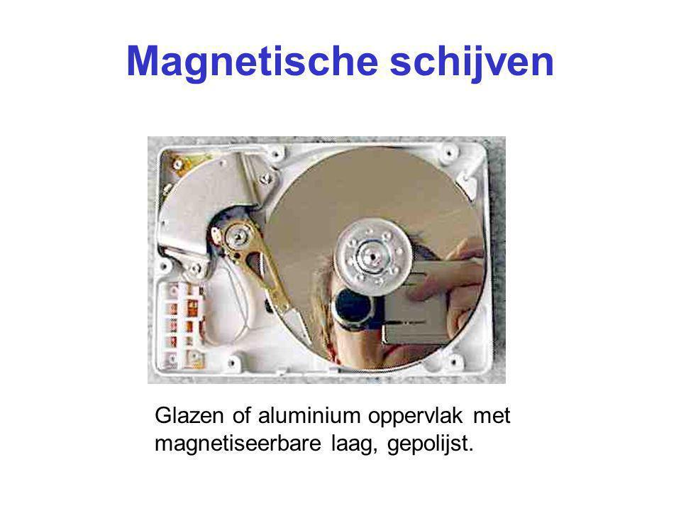 Magnetische schijven Glazen of aluminium oppervlak met magnetiseerbare laag, gepolijst.
