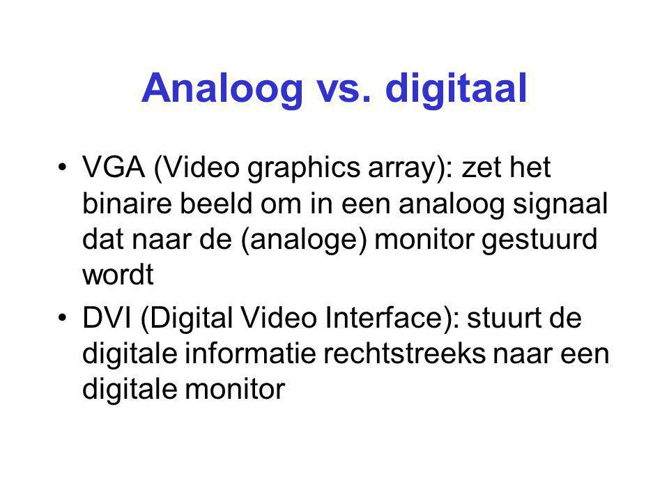 Analoog vs.