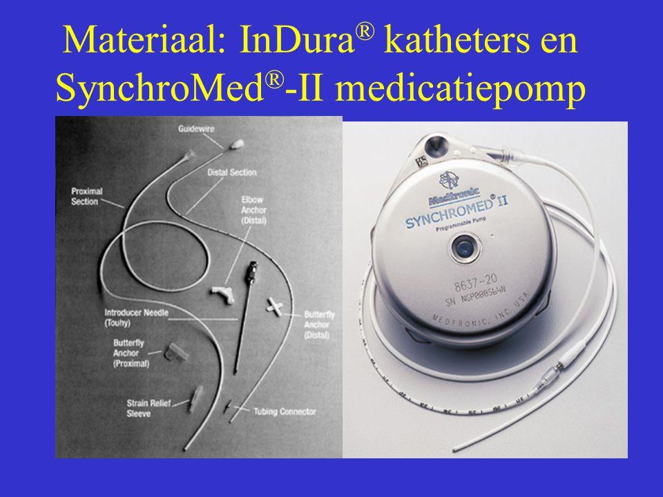 Materiaal: InDura ® katheters en SynchroMed ® -II medicatiepomp