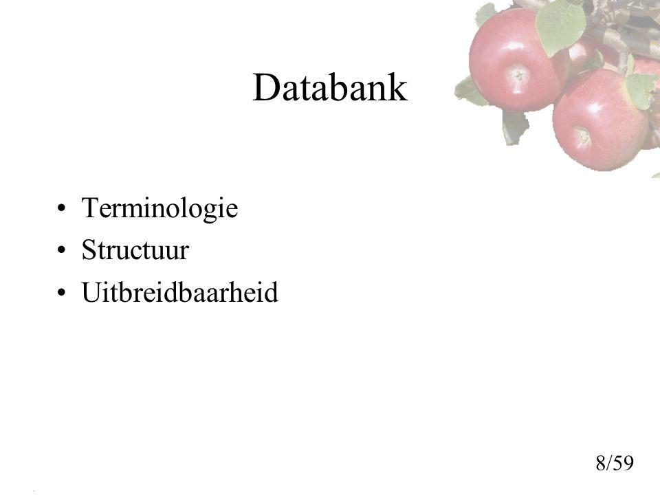 Databank Terminologie Structuur Uitbreidbaarheid 8/59