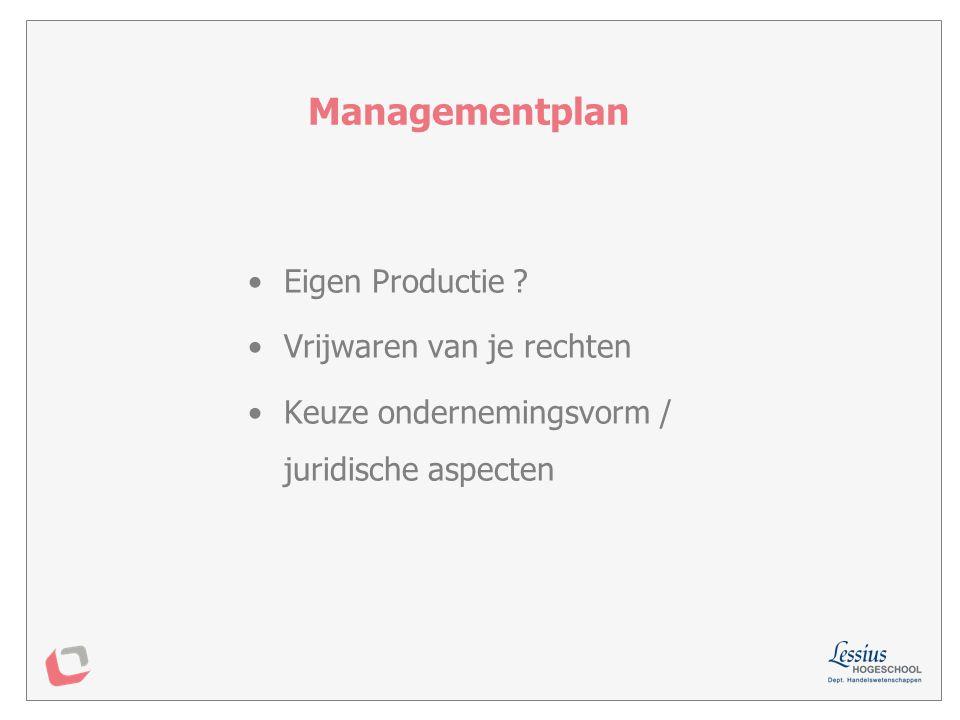 redenen om al dan niet eigen productie productieplanning logistiek weerslag op investeringsplan Productieplan