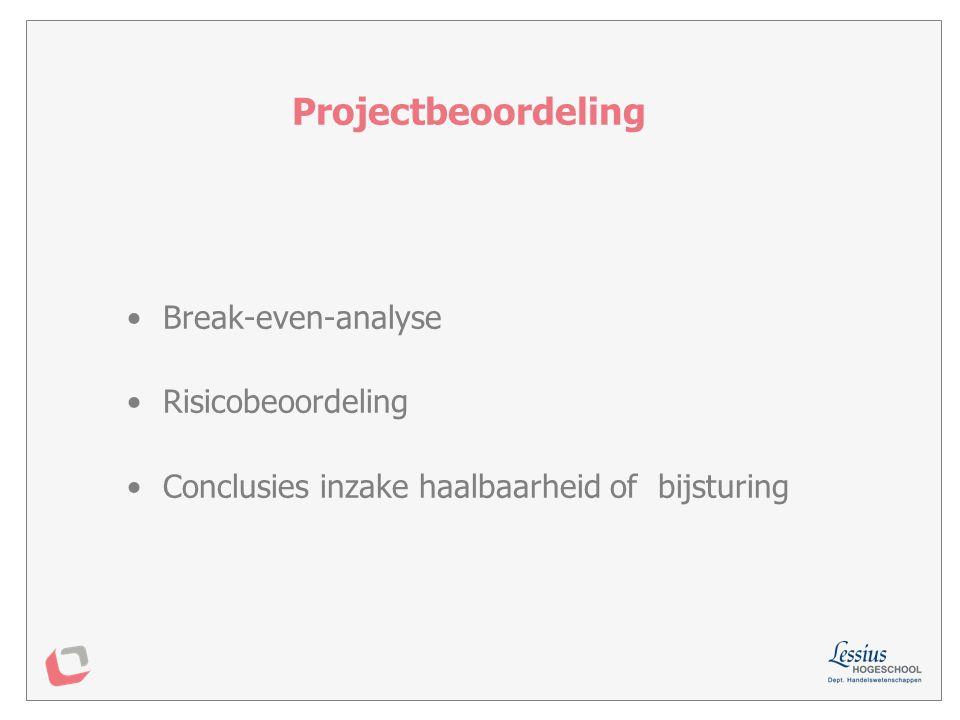Zou je dit project al dan niet uitvoeren onder de beschreven voorwaarden .