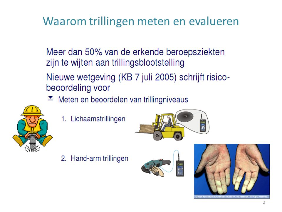 Bijlage 3: werkvoorbeeld 2 33 Wat is VDV(8) voor dezelfde transportwerker uit vorig voorbeeld als de meting voor het werk met de vorklift 1 uur duurt en tijdens het transport gedurende 4 uren werden gemeten.